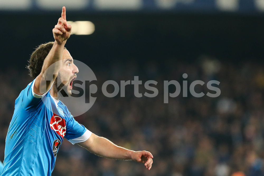 Gonzalo Higuain of Napoli during the Serie A TIM match between Napoli and AC Milan at Stadio San Paolo, Naples, Italy on 22 February 2016. Photo by Alfredo Panico.