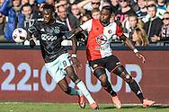 23-10-2016: Voetbal: Feyenoord v Ajax: Rotterdam<br /> <br /> (L-R) Ajax speler Bertrand Traore, Feyenoord speler Eljero Elia tijdens het Eredivsie duel tussen Feyenoord en Ajax op 23 oktober in stadion Feijenoord (de Kuip) tijdens speelronde 10<br /> <br /> Eredivisie - Seizoen 2016 / 2017<br /> <br /> Foto: Gertjan Kooij