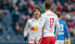 05.03.2016, Red Bull Arena, Salzburg, AUT, 1. FBL, FC Red Bull Salzburg vs SV Groedig, 26. Runde, im Bild Torjubel Red Bulls nach dem 3:0 durch Andreas Ulmer (Red Bull Salzburg), Takumi Minamino (Red Bull Salzburg) // during Austrian Football Bundesliga 26th round Match between FC Red Bull Salzburg and SV Groedig at the Red Bull Arena, Salzburg, Austria on 2016/03/05. EXPA Pictures © 2016, PhotoCredit: EXPA/ JFK