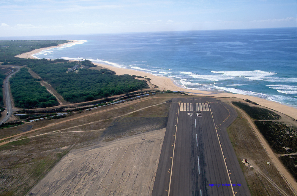 Airport runway Barking Sands, HI. Commercial Airports