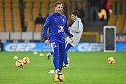 Chelsea Midfielder Eden Hazard warms up during the Premier League match between Wolverhampton Wanderers and Chelsea at Molineux, Wolverhampton, England on 5 December 2018.