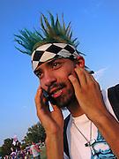 A music fan at the Austin City Limits Music Festival, Austin Texas, September 27 2008.