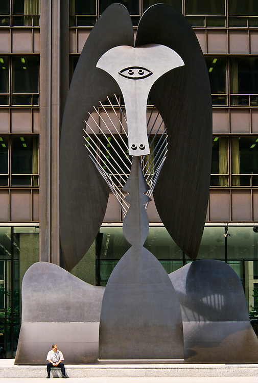 Untitled sculputure by Picasso at Daly Civic Center Plaza, Chicago, Illinois