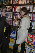 Aubrey Duffy and Jessica McNally, Book launch of Pretty Things by Liz Goldwyn at Daunt <br />Books, Marylebone High Street. London 30 November 2006.   ONE TIME USE ONLY - DO NOT ARCHIVE  © Copyright Photograph by Dafydd Jones 248 CLAPHAM PARK RD. LONDON SW90PZ.  Tel 020 7733 0108 www.dafjones.com