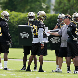 08 May 2009: Saints defensive coordinator Gregg Williams instructs defensive backs during the New Orleans Saints  rookie minicamp held at the team's practice facility in Metairie, Louisiana.