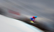 Guillermo Fayed, of France, takes a jump during an olympic training session at the Sochi 2014 Olympic Games, Krasnaya Polyana, Russia, February 11, 2014.