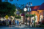 Tourists enjoy downtown Stone Harbor, New Jersey, USA