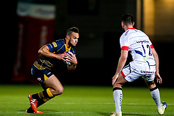 Dwayne Burrows of Worcester Cavaliers takes on Luke James of Sale Jets - Mandatory by-line: Robbie Stephenson/JMP - 24/09/2018 - RUGBY - Sixways Stadium - Worcester, England - Worcester Cavaliers v Sale Jets - Premiership Rugby Shield