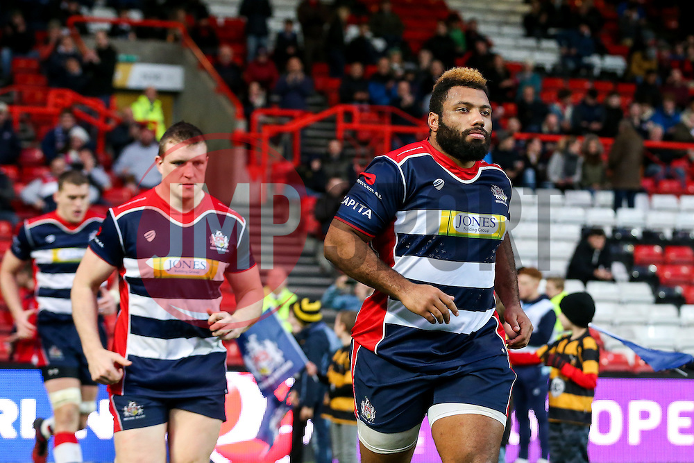 Jamal Ford-Robinson of Bristol Rugby runs out for the second half - Rogan Thomson/JMP - 11/12/2016 - RUGBY UNION - Ashton Gate Stadium - Bristol, England - Bristol Rugby v Pau - European Rugby Challenge Cup.