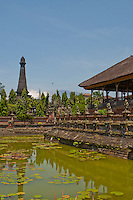 Monument, pond and Hall of Justice at Kerta Gosa in Klungklung in Bali Indonesia