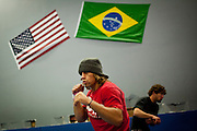 Urijah Faber trains at his gym in Sacramento, Calif., April 13, 2011.