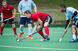 Southgate v Old Georgians - Men's Hockey League, East Conference, Trent Park, London, UK on 23September 2017. Photo: Simon Parker