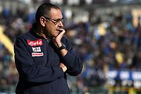 Atalanta-Napoli - Serie A 2017-18 - 21a giornata - Nella foto: Maurizio Sarri allenatore del  Napoli