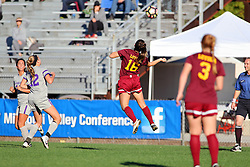 04 November 2016:  Madison Kimball during an NCAA Missouri Valley Conference (MVC) Championship series women's semi-final soccer game between the Loyola Ramblers and the Evansville Purple Aces on Adelaide Street Field in Normal IL