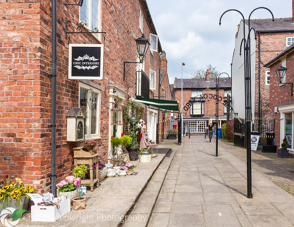 Exclusive shops in The Cocoa Yard, in Nantwich, Cheshire