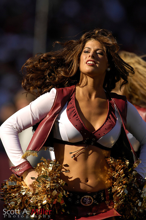 Oct. 8, 2006; San Francisco, CA, USA;  San Francisco 49ers cheerleaders during the 49ers game against the Oakland Raiders at Monster Park. ...©2006 Scott A. Miller