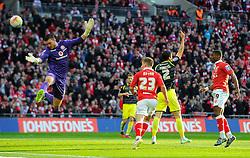 Bristol City's Joe Bryan sees his header ruled out  - Photo mandatory by-line: Joe Meredith/JMP - Mobile: 07966 386802 - 22/03/2015 - SPORT - Football - London - Wembley Stadium - Bristol City v Walsall - Johnstone Paint Trophy Final