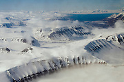 In-flight to Longyearbyen, Spitsbergen, Svalbard