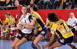 Szandra Zacsik of Krim at handball match of Round 5 of Champions League between RK Krim Mercator and Metz Handball, France, on January 9, 2010 in Kodeljevo, Ljubljana, Slovenia. (Photo by Vid Ponikvar / Sportida)