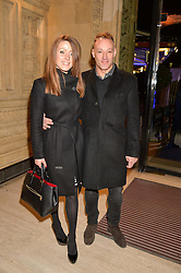 TOBY ANSTIS and HANNAH LORD at the opening night of Amaluna by Cirque Du Soleil at The Royal Albert Hall, London on 19th January 2016.