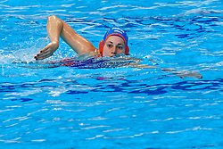 Dagmar Genee #3 of Netherlands during the semi final Netherlands vs Russia on LEN European Aquatics Waterpolo January 23, 2020 in Duna Arena in Budapest, Hungary