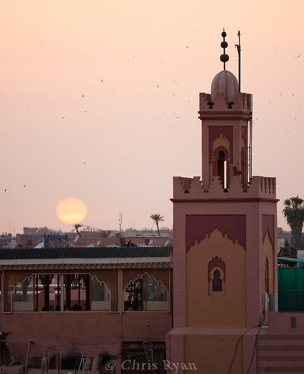 Sunset at Place Jemma el-Fna, Marrakesh, Morocco