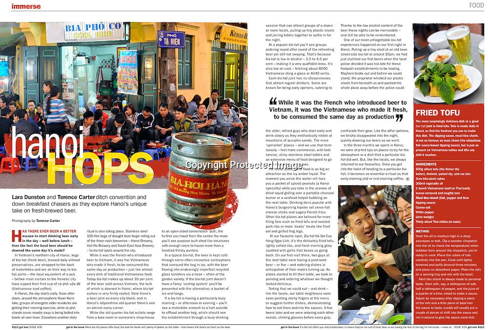 Get Lost Magazine, Bia Hoi in Hanoi, Vietnam.