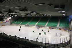 Ice arena at second ice hockey practice of HDD Tilia Olimpija on ice in the new season 2008/2009, on August 19, 2008 in Hala Tivoli, Ljubljana, Slovenia. (Photo by Vid Ponikvar / Sportal Images)