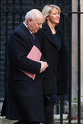 London, February 24th 2015. Ministers arrive at the weekly cabinet meeting at 10 Downing Street. PICTURED: Iain Duncan-Smith and Esther McVey