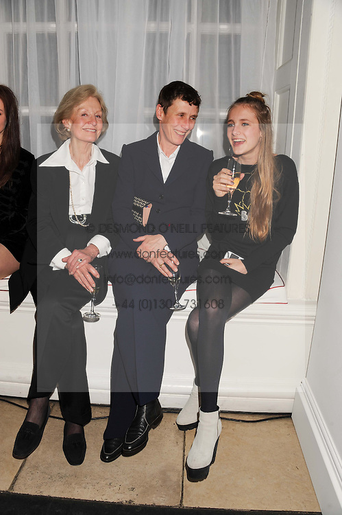 Left to right, JOAN HICKS, her daughter SOPHIE CAMPBELL and her daughter OLYMPIA CAMPBELL  at a reception to present the new Cartier Tank Watch Collection held at The Orangery, Kensington Palace Gardens, London W8 on 19th April 2012.