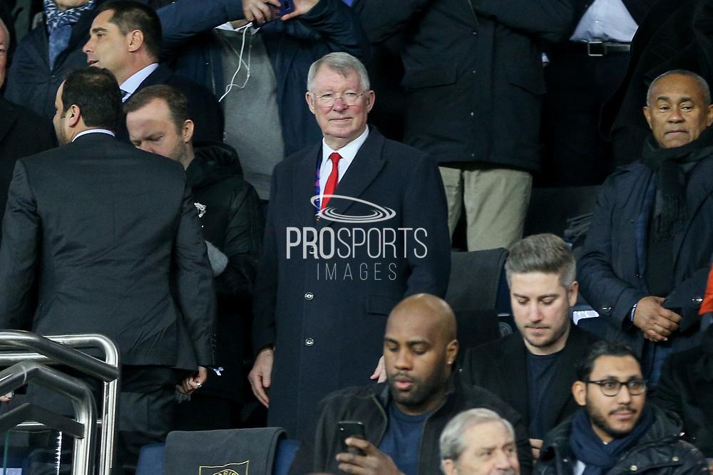 Sir Alex Ferguson during the Champions League Round of 16 2nd leg match between Paris Saint-Germain and Manchester United at Parc des Princes, Paris, France on 6 March 2019.