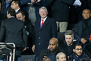 Sir Alex Ferguson during the Champions League Round of 16 2nd leg match between Paris Saint-Germain and Manchester United at Parc des Princes, Paris, France on 6 March 2019.