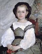 Mlle Romaine Lacaux' 1864:  Pierre August Renoir 1841-1919) French artist. Oil on canvas.