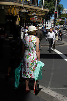 Old lady with a flowery dress, Sydney, Australia. January 2nd-11th 2007