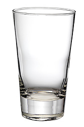 Clear glass 8 ounce tumbler glass on white background