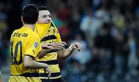 YBs Moreno Costanzo und Xavier Hochstrasser nach dem 3:0. © Manu Friederich/EQ Images