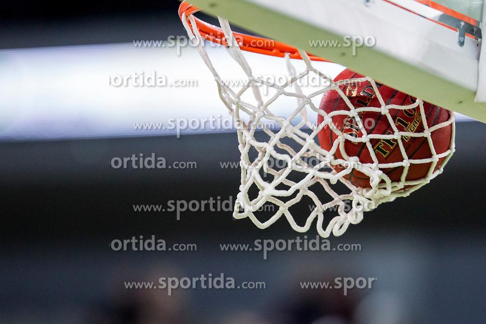 Ball during basketball match between KK Union Olimpija Ljubljana and Dolomiti Energia Trento (ITA) in Round #1 of EuroCup 2015/16, on October 14, 2015 in Arena Stozice, Ljubljana, Slovenia. Photo by Urban Urbanc / Sportida
