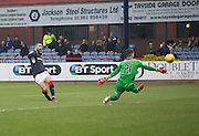 Dundee&rsquo;s Marcus Haber hits the bar early in the match - Dundee v St Mirren in the William Hill Scottish Cup at Dens Park, Dundee. Photo: David Young<br /> <br />  - &copy; David Young - www.davidyoungphoto.co.uk - email: davidyoungphoto@gmail.com