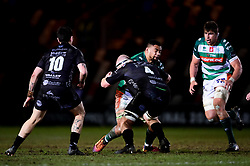 Guinness PRO14, Rodney Parade, Newport, UK 06/03/2020<br /> Dragons vs Benetton Rugby<br /> Toa Halafihi of Benetton Rugby is tackled by Joe Davies of Dragons<br /> Mandatory Credit ©INPHO/Ryan Hiscott