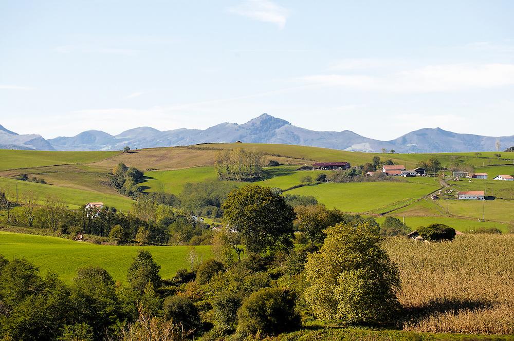 Landscape of the internal of the Basque Country. Paysage de l'intérieure du pays Basque.