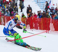 22.01.2012, Ganslernhang, Kitzbuehel, AUT, FIS Weltcup Ski Alpin, 72. Hahnenkammrennen, Herren, Slalom 1. Durchgang, im Bild Mitja Valencic (SLO) // Mitja Valencic of Slovenia during Slalom race 1st run of 72th Hahnenkammrace of FIS Ski Alpine World Cup at 'Ganslernhang' course in Kitzbuhel, Austria on 2012/01/22. EXPA Pictures © 2012, PhotoCredit: EXPA/ Johann Groder