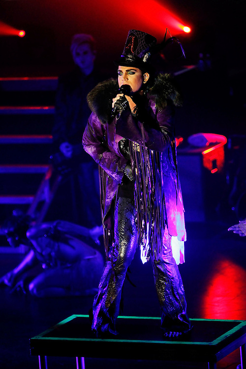 NEW YORK - JUNE 22:  Singer Adam Lambert performs at the Nokia Theatre on June 22, 2010 in New York City.  (Photo by Joe Kohen/WireImage)