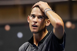 September 22, 2018 - Saint Petersburg, Russia - Dominic Thiem of Austria reacts during his St. Petersburg Open 2018 semi final tennis match against Roberto Bautista Agut of Spain on September 22, 2018 in Saint Petersburg, Russia. (Credit Image: © Mike Kireev/NurPhoto/ZUMA Press)