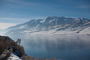 The Jordanelle Reservoir in Utah, with Mount Timpanogos in the background