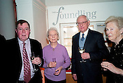 ALAN BORG; MAVIS WALKER; PATRICK WALKER; DAME GILLIAN WAGNER,  Founding Fellows 2010 Award Ceremony. Foundling Museum on Monday  8 March