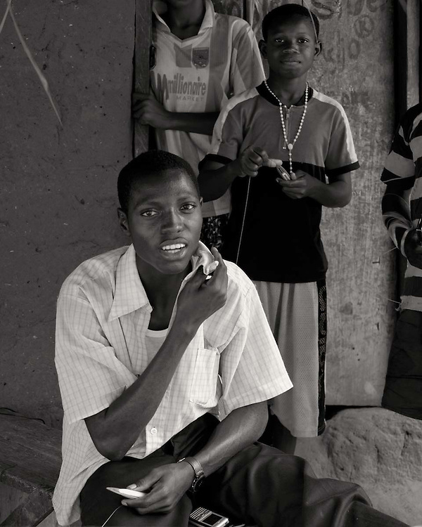 Portraits of people living in villages on the Volta lake, Ghana 2011