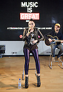 Jessie J<br /> Jessica Ellen Cornish <br /> performs a live set (introduced by Mel C) at HMV, Oxford Street, London, Great Britain <br /> 14th May 2012 <br /> <br /> Photograph by Elliott Franks<br /> <br /> Jessica Ellen Cornish (born 27 March 1988), better known by her stage name Jessie J, is an English singer and songwriter. Born and raised in London, she studied at the BRIT School before signing with Gut Records and striking a songwriting deal with Sony/ATV Music Publishing where she wrote for artists including Chris Brown and Miley Cyrus.<br /> Signed with Universal, Jessie J came to prominence following the release of her debut single &quot;Do It Like a Dude&quot; which peaked at number two on the UK Singles Charts. After scoring her first number one in the United Kingdom, France, Ireland and New Zealand with the song &quot;Price Tag&quot;, she released her debut album Who You Are (2011) which charted at number two in the UK. Other releases from the album include &quot;Nobody's Perfect&quot;, &quot;Who's Laughing Now&quot; and &quot;Who You Are&quot; which charted within the top 20 in the UK but the release of fifth single &quot;Domino&quot; spawned international chart success, peaking at number 6 on the Billboard Hot 100 in the US, and becoming her second UK number one. Aside from her musical career, Jessie J is currently a coach and mentor on television show The Voice UK.<br /> Citing various influences, Jessie J is recognized for an unconventional musical and performance style that mixes her soul voice with contemporary R&amp;B, pop music and hip-hop influences. Jessie J has garnered various awards and nominations for her contributions to the music industry, including the 2011 Critics' Choice BRIT Award and the BBC's Sound of 2011. As of April 2012, Jessie has sold over 11 million singles and 2.5 million records worldwide.