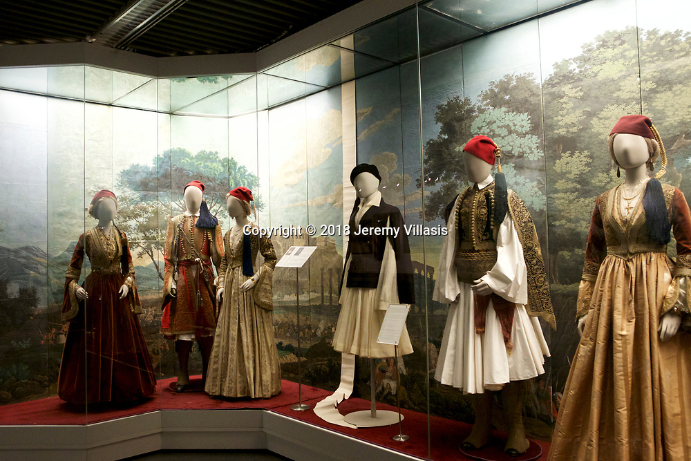 Collection of traditional costumes from different parts of Greece. Benaki Museum, Athens.