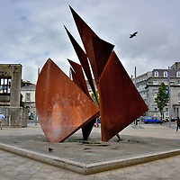Landmarks at Eyre Square in Galway, Ireland<br />