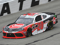 February 23, 2019 - Hampton, GA, U.S. - HAMPTON, GA - FEBRUARY 23: Christopher Bell, Joe Gibbs Racing, Toyota Supra Rheem (20) races through the corner during the Xfinity Series Rinnai 250 on February 23, 2019, at Atlanta Motor Speedway in Hampton, GA.(Photo by Jeffrey Vest/Icon Sportswire) (Credit Image: © Jeffrey Vest/Icon SMI via ZUMA Press)
